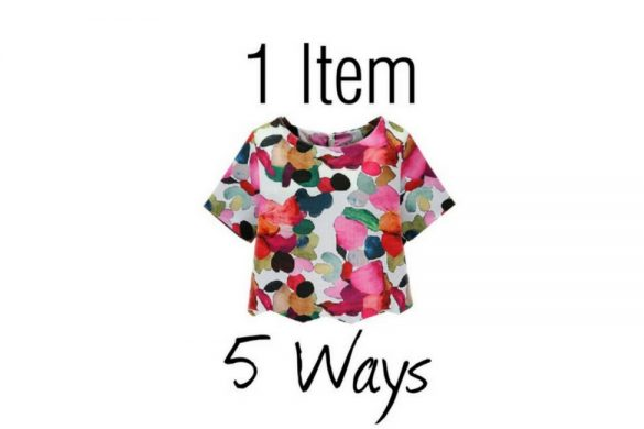 how to style the bold shein ikat top 1 item 5 ways