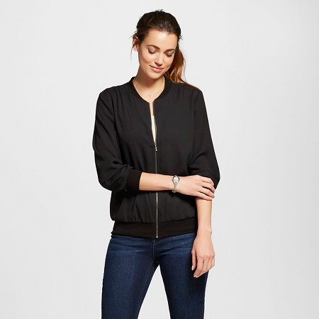 target style women's solid bomber jacket