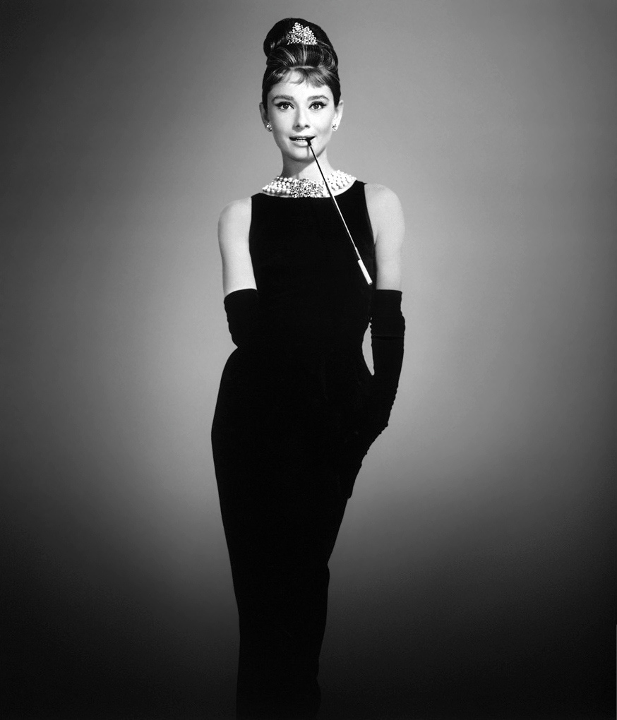 Breakfast at Tiffany's Audrey Hepburn as Holly Golightly in a Givenchy little black dress