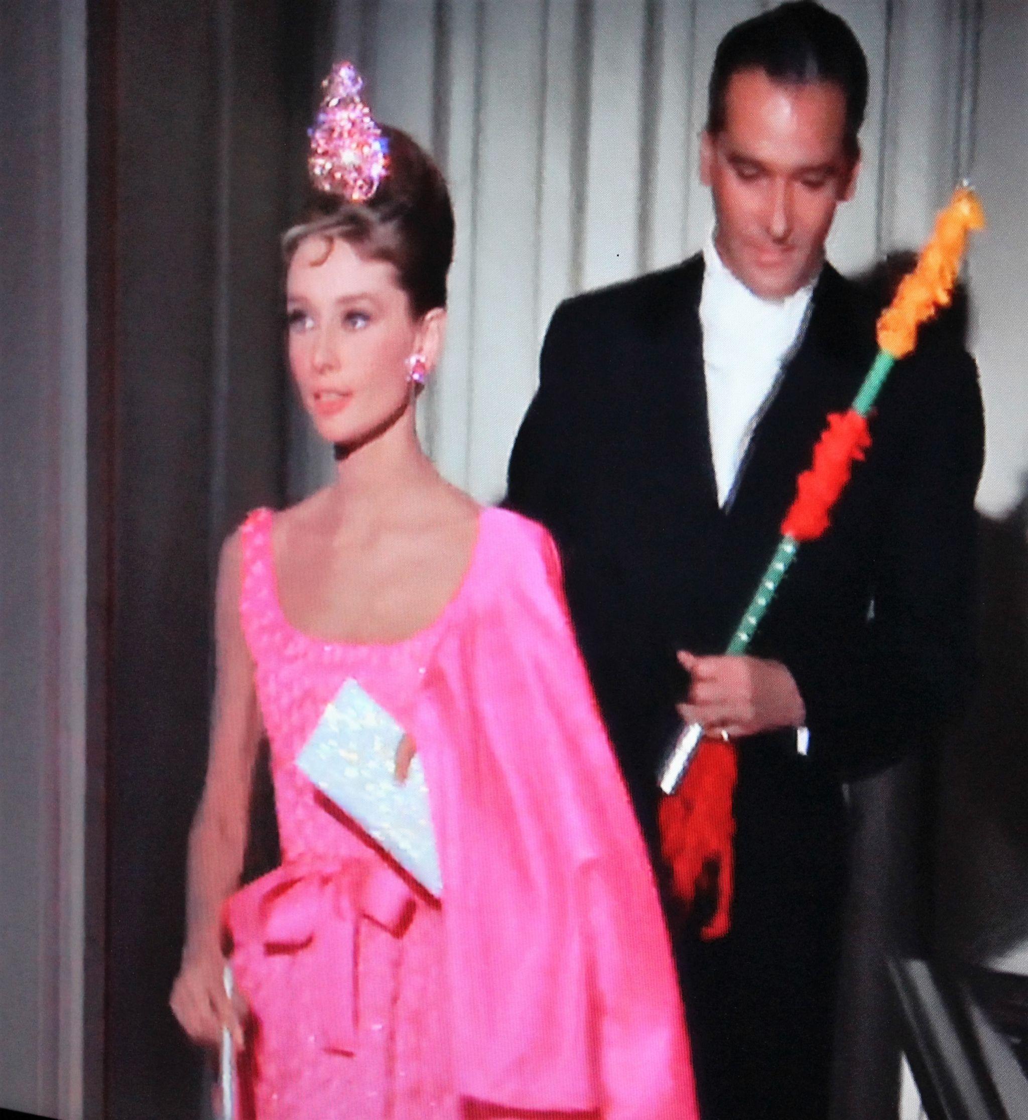Breakfast at Tiffany's Audrey Hepburn pink dress