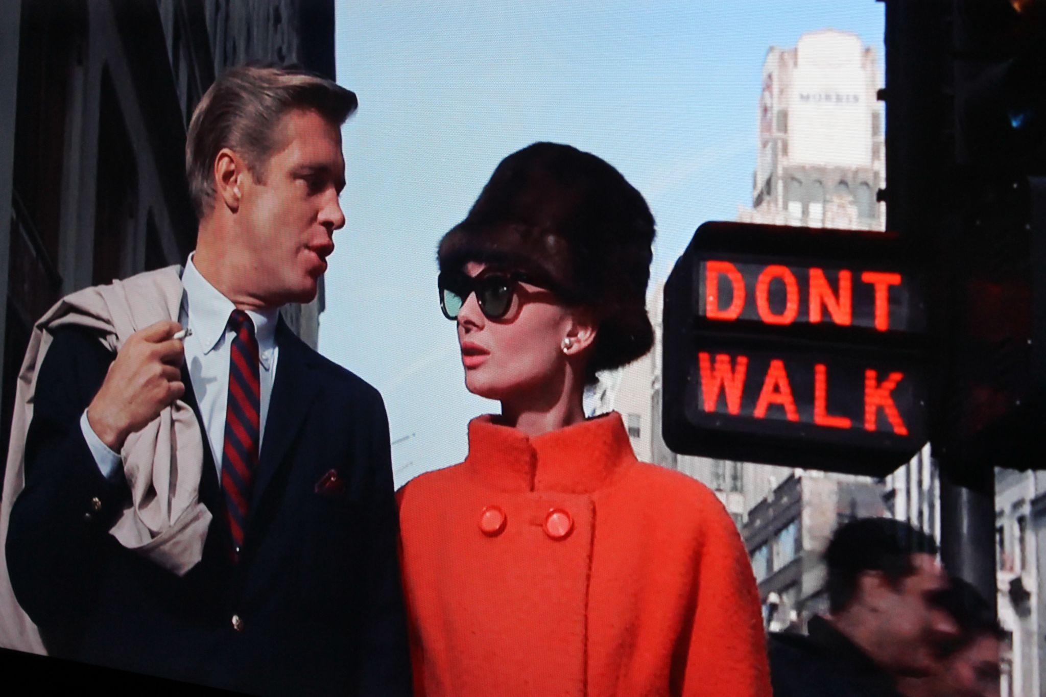 Breakfast at Tiffany's Audrey Hepburn Red Coat