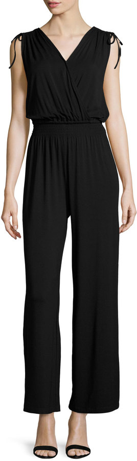 Jumpsuits under  Chelsea Theodore Faux Wrap Jumpsuit