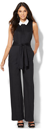 Jumpsuits under  Collared Sleeveless Jumpsuit