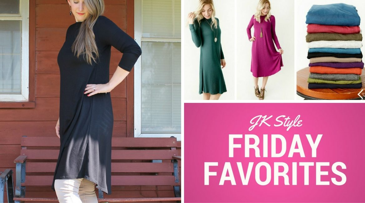 Friday Favorites Cents of Style Long Sleeve Swing Dress post