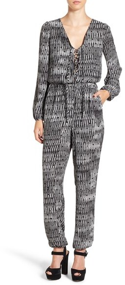 Jumpsuits under  Leith Long Sleeve Lace-Up Jumpsuit
