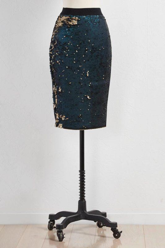 October Wishlist Versona sequined skirt