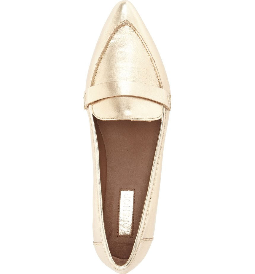 friday favorites gold loafer