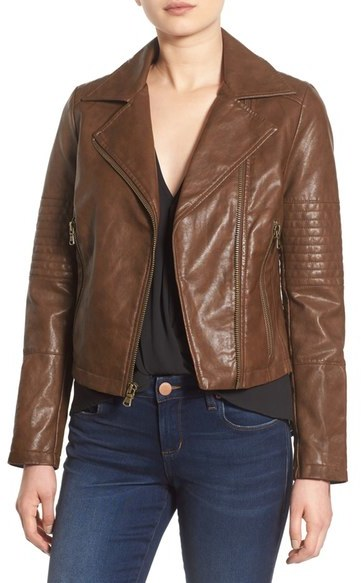 Friday Favorites cognac leather jacket