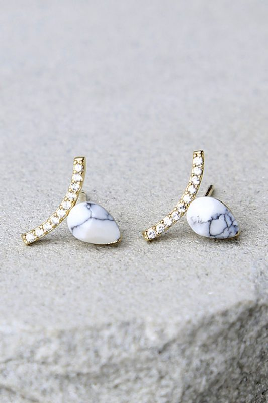 15 Under $40 Stylish Gifts including these adorable earrings from Lulus!