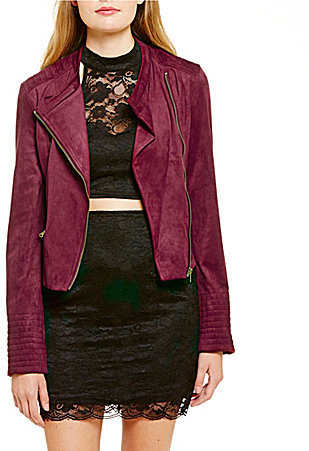 November Wishlist items include this gorgeous GB faux suede moto jacket