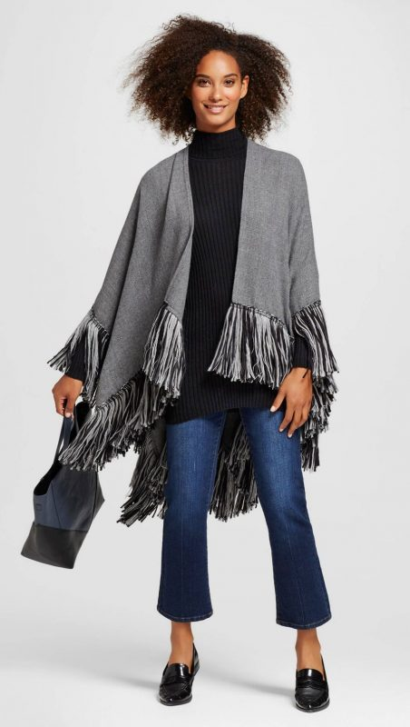 November Wishlist Who What Wear Fringe Poncho