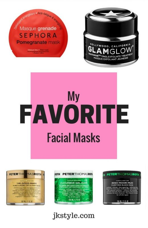 Favorite facial masks on JK Style