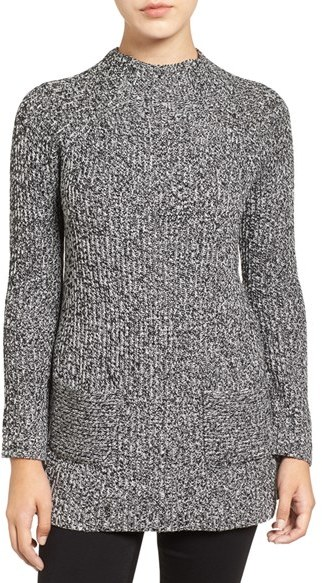 top 5 on ShopStyle Chaus Two-Pocket Mock Neck Tunic Sweater