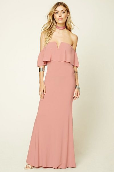 top 5 on ShopStyle Forever 21 Off-the-shoulder maxi dress