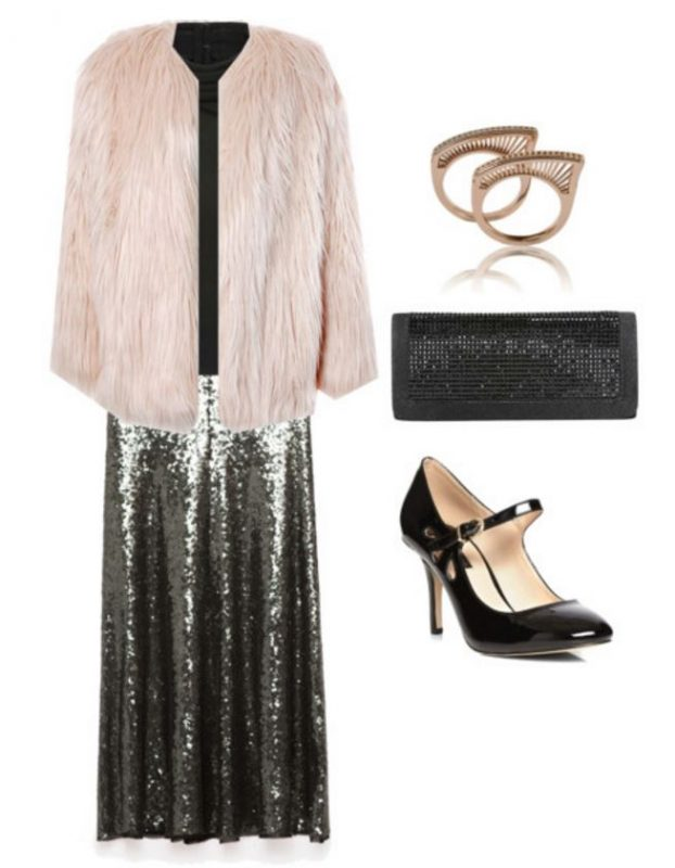 how to style a sequin skirt 1
