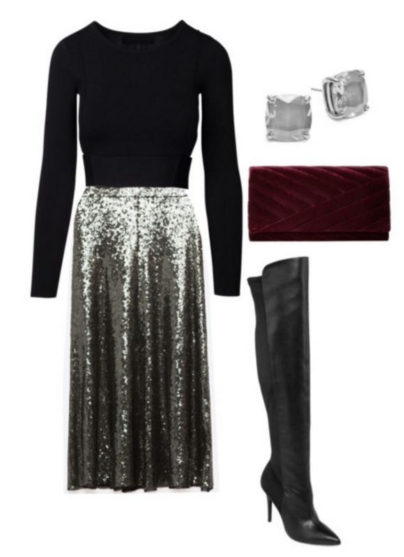 how to style a sequin skirt 2