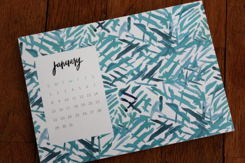 January POPSUGAR Must Have Box Review May Designs Desk Calendar & Notecard