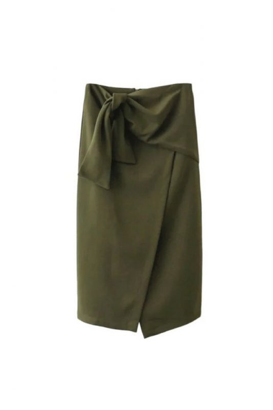 Goodnight Macaroon Favorites Under $50 Eudora Tie Knot High Waist Midi Slit Pencil Skirt