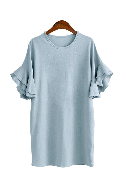 Goodnight Macaroon Favorites Under $50 Ismay Ruffle Bell Sleeved Casual Linen Dress