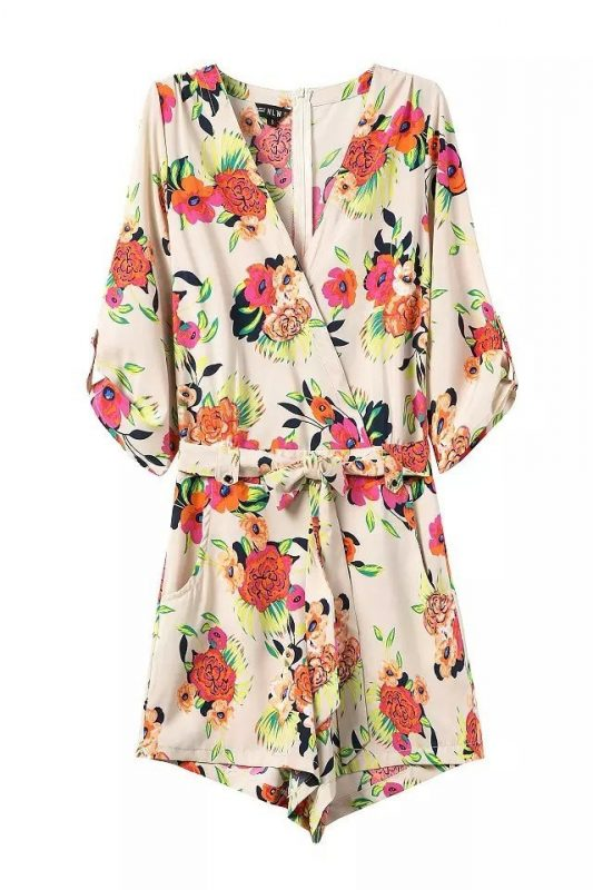 Goodnight Macaroon Favorites Under $50 Liz Flower Power Print Romper