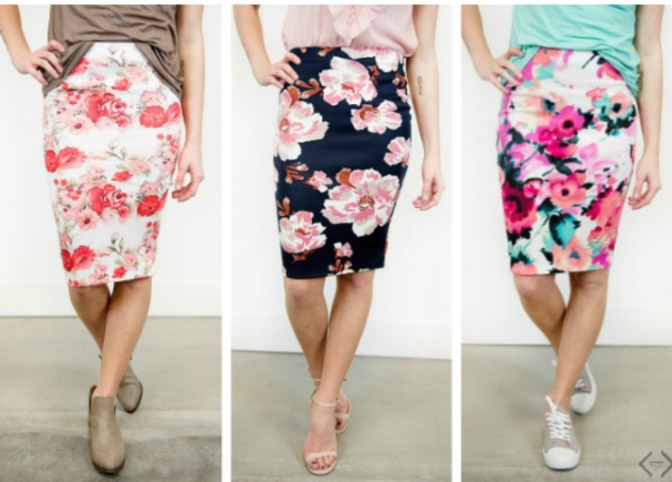 Gorgeous floral skirts from Cents of Style