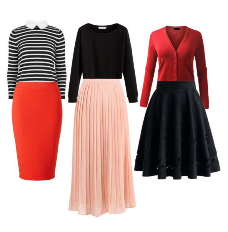 outfits perfect for Valentine's Day Skirts and Tops