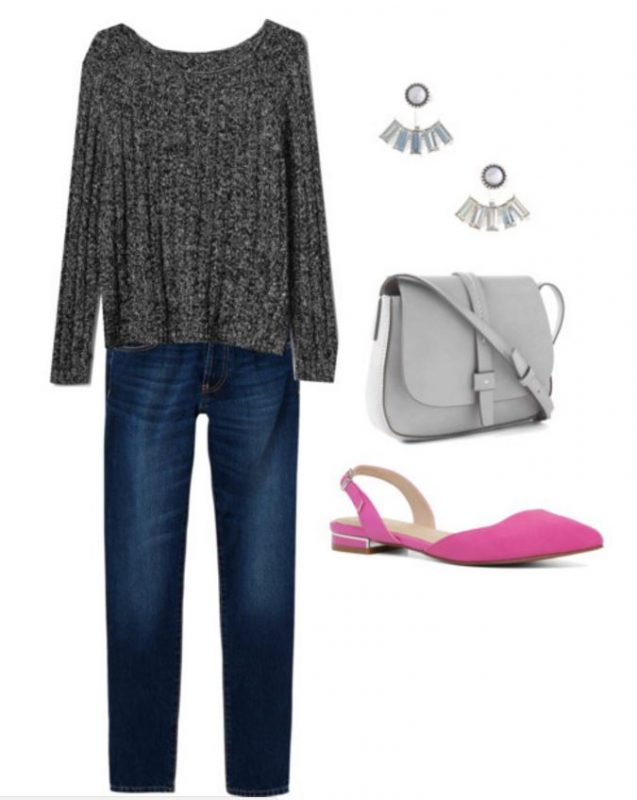 Some great ideas on how to wear pink flats, including this casual look perfect as we transition to spring!