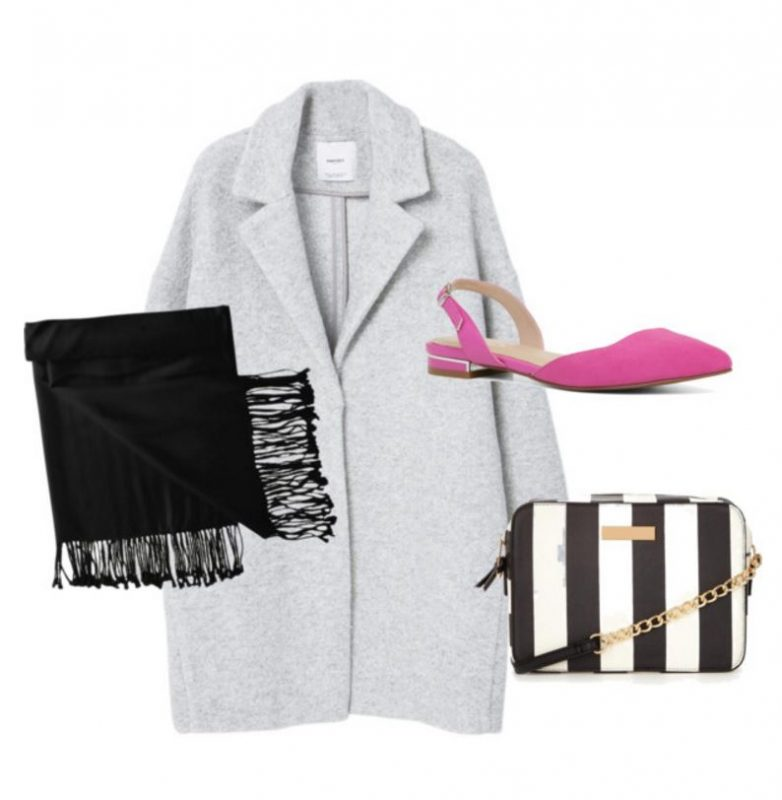 Some great ideas on how to wear pink flats, including with your favorite winter coat!