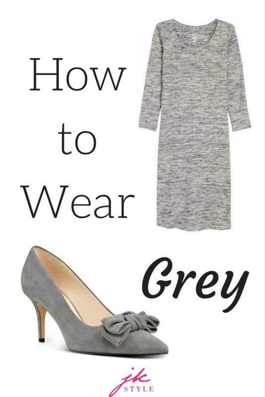 Some tips for how to wear grey, or any shade that's not your color, on JK Style!