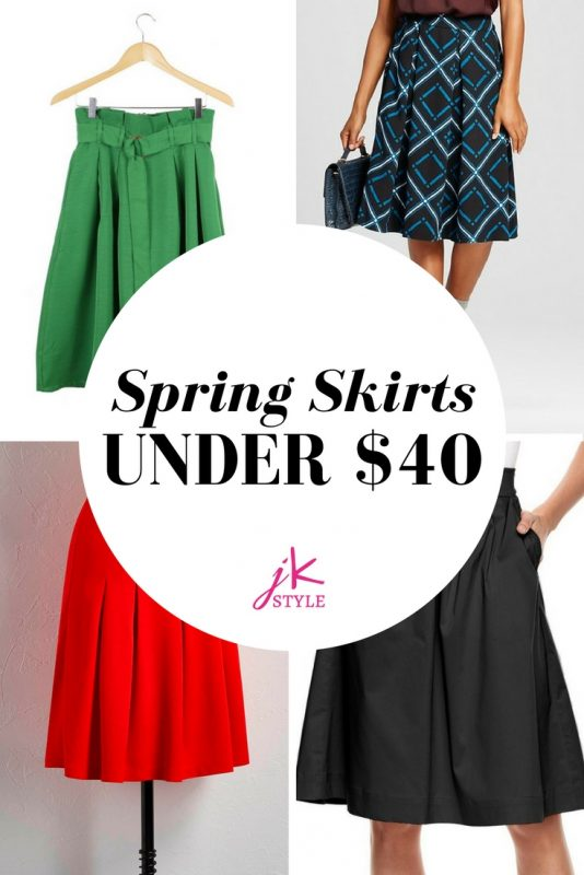 Spring Skirts Under $40 on JK Style