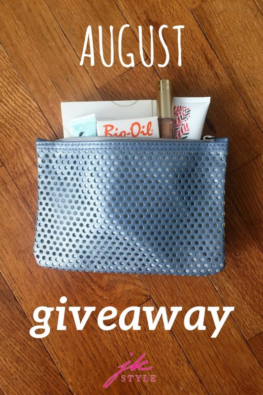 August giveaway on JK Style