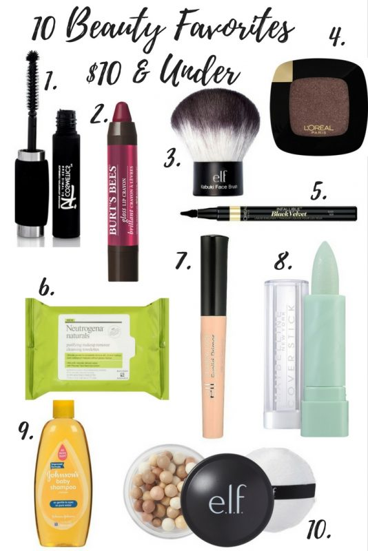 beauty favorites $10 and under