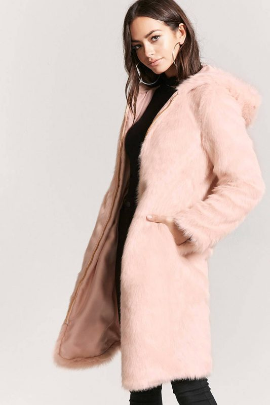 faux fur longline coat -shopping Forever 21 when you're not 21 - JK Style