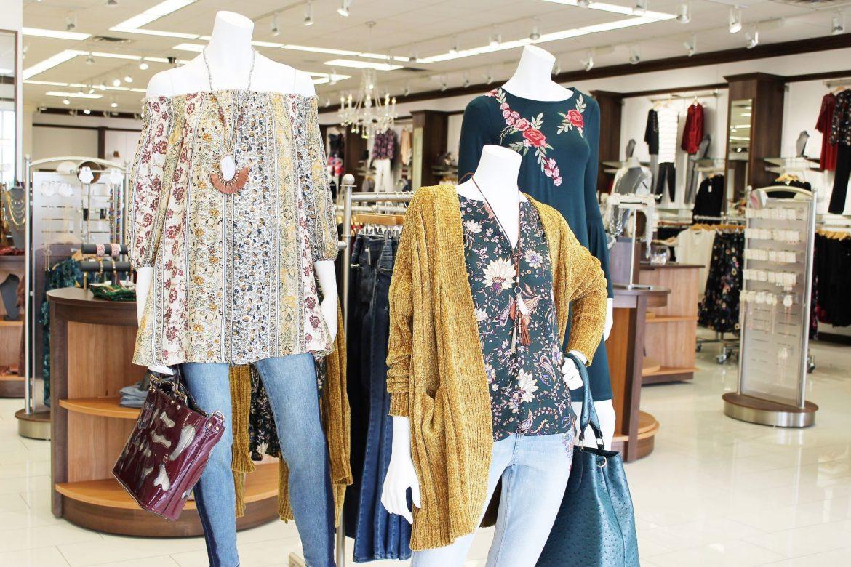 fall fashion display at Versona in Oklahoma City - JK Style