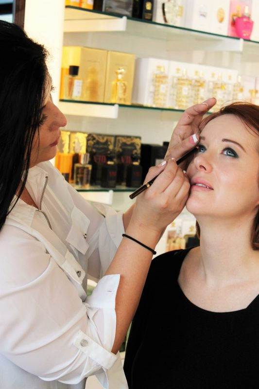 makeup application - Cos Bar in Oklahoma City - Christmas Shopping at Classen Curve - JK Style