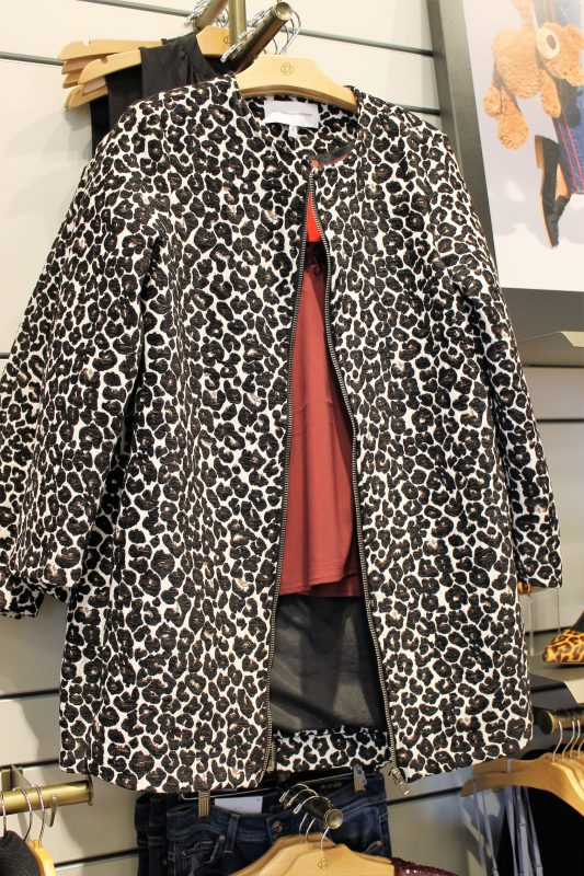 Leopard Cupcakes and Cashmere jacket - Evereve in Oklahoma City - Christmas shopping at Classen Curve