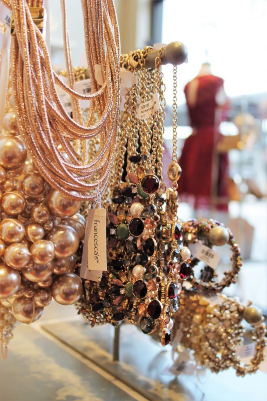 Jewelry at Francesca's store in Oklahoma City - Christmas shopping at Classen Curve