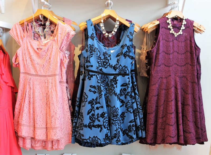 holiday dresses at Francesca's store in Oklahoma City - Christmas shopping at Classen Curve