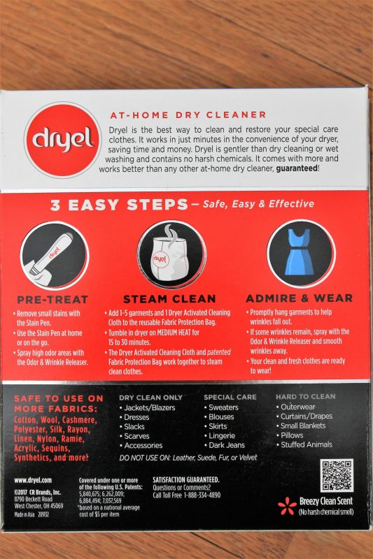 Dryel box - fabric care with Dryel