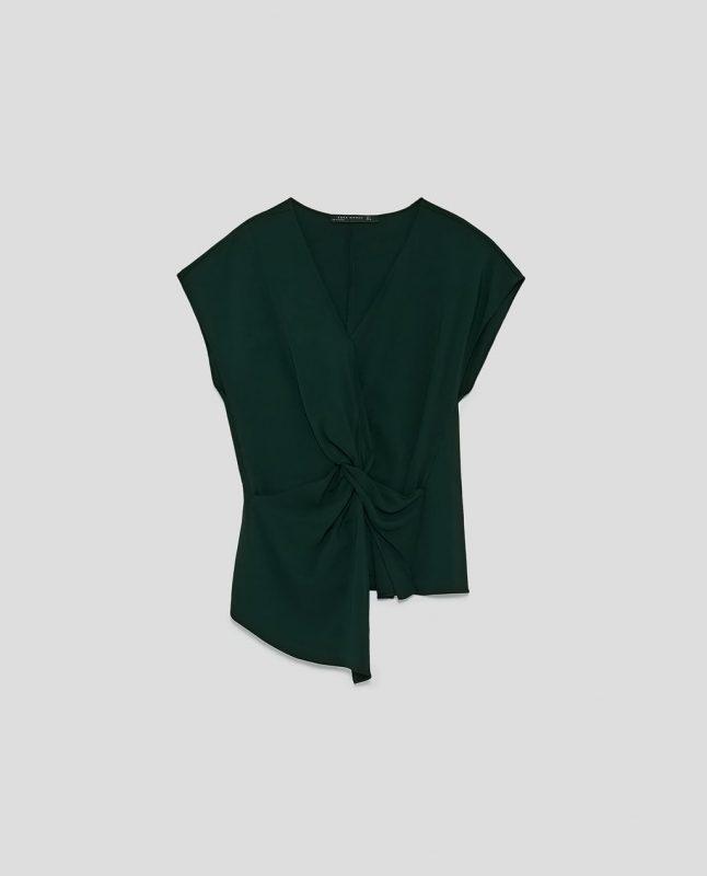 Zara draped top