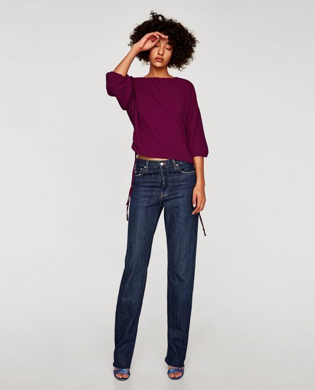 Zara top with elastic cuffs - JK Style