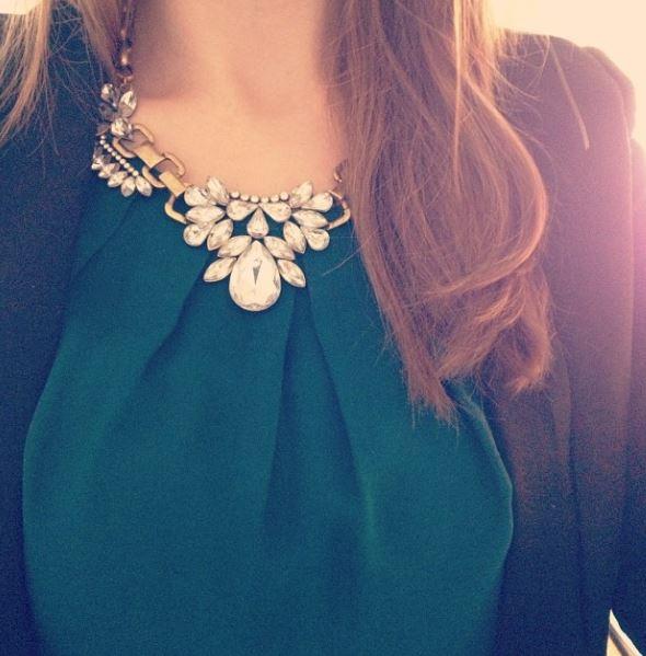 crystal necklace instagram
