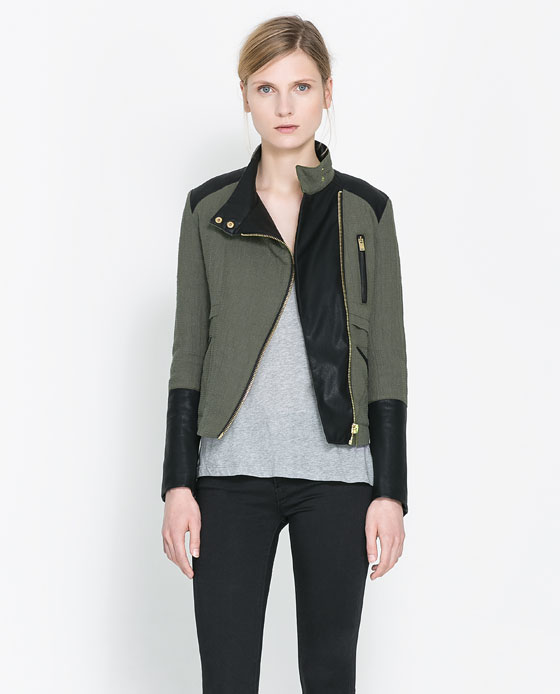 zara quilted crossover jacket 2