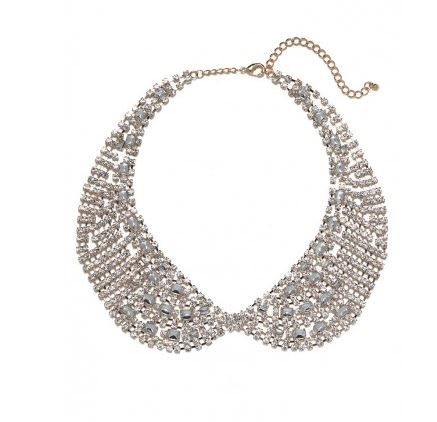 gold crystal mesh collar bauble bar