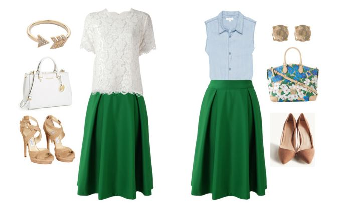 green skirts