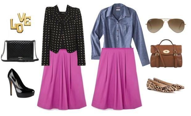 purple skirts