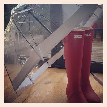 umbrella hunter boots