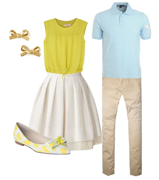 Cute and preppy take on what to wear for engagement photos from Splendry