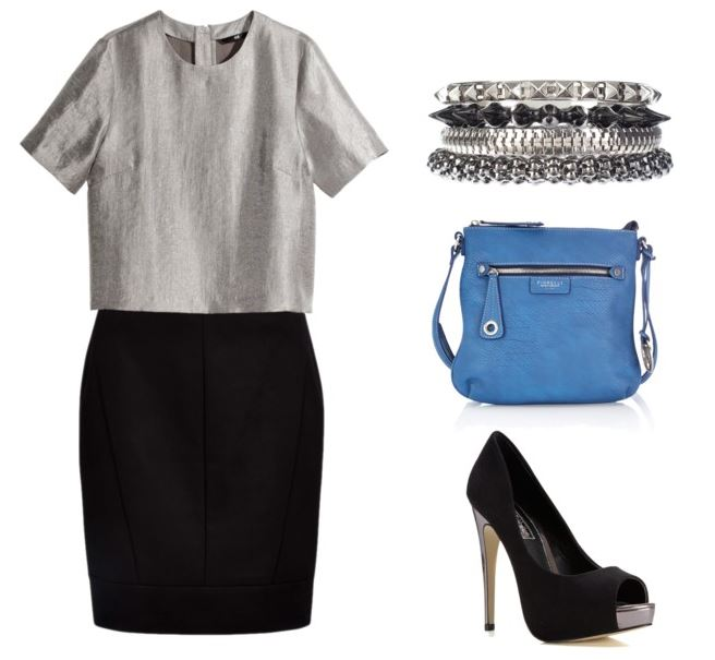 Silver Top with Skirt