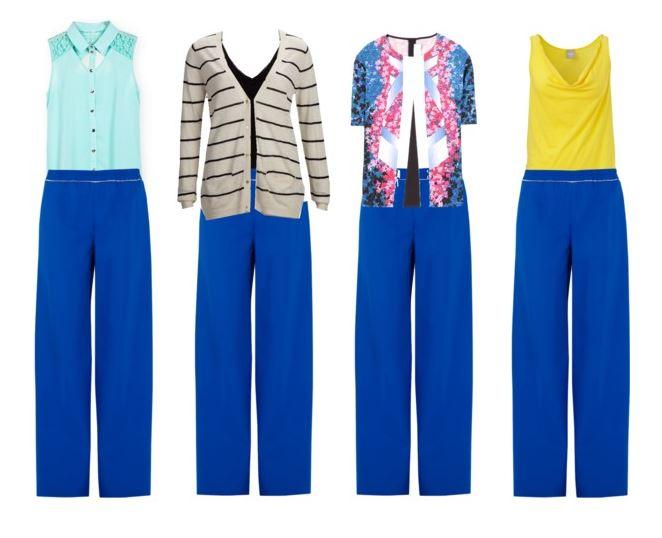 blue pants 4 ways